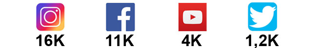 Nossos números nas redes sociais