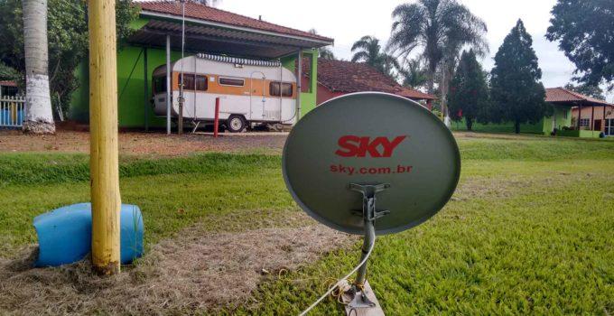 Usando APP para apontar a antena para o satélite