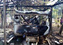 Incêndio em camping queima 5 trailers