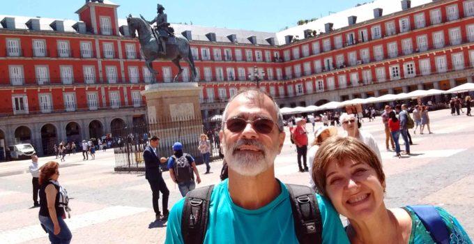 Plaza Mayor em Madrid, Espanha