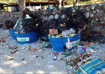 Lixo consequência do turismo selvagem na Europa