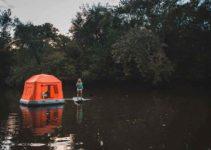 Barraca Flutuante, um novo jeito de acampar