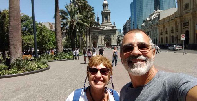 Centro Histórico em Santiago no Chile