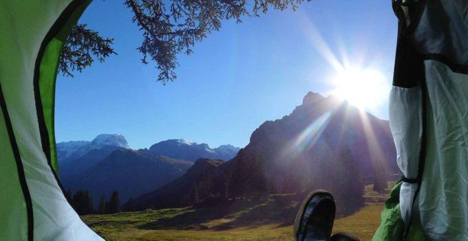 Acampando junto a natureza