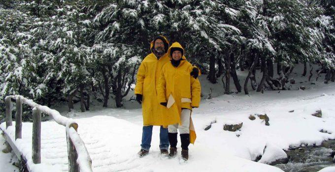 Glaciar Martial em Ushuaia durante nevasca