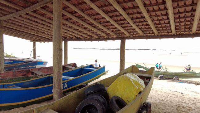 Guarderia de barcos dos pescadores de Itaúnas